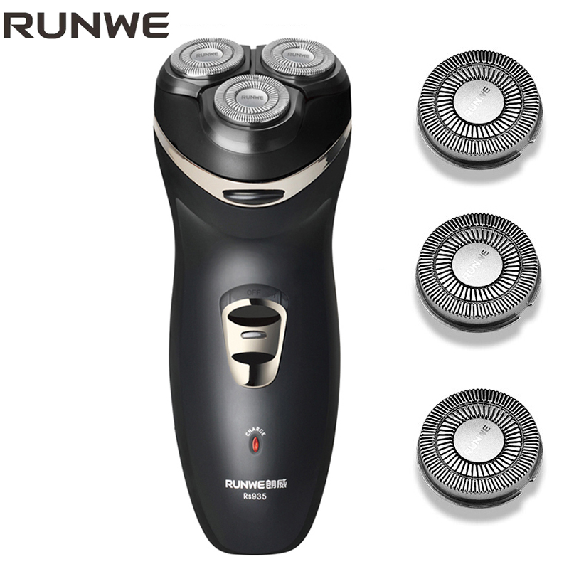 RUNWE RS935 Electric Shaver IPX7 Shaving & Hair Removal Waterproof Rechargeable Shaver Triple Blade Electric Shaving Razor Men