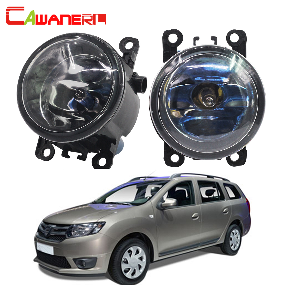 Cawanerl For Dacia Logan 2004-2015 100W Car Styling Halogen Bulb Front Fog Light DRL Daytime Running Lamp 12V High Power for dacia logan saloon ls