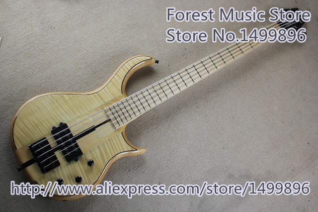 Cheap Hot Selling 5 String Worrior Bass Guitar Maple Body & Neck As Picture For Sale