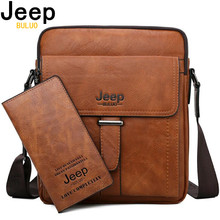 JEEP BULUO Men Messenger Bags High Quality Large Capacity Man Bag Crossbody Shoulder Tote Bags For Male Split Leather New Bag недорого