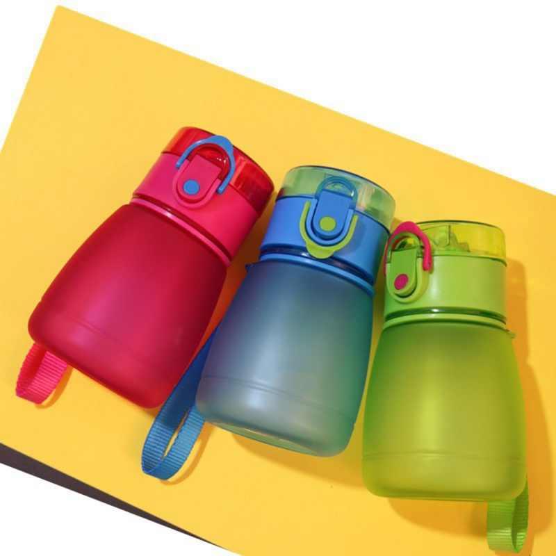 Deportes botella de agua niños botella de agua botellas de agua pajita Bpa libre de ftalato tritan botella de limón bebé
