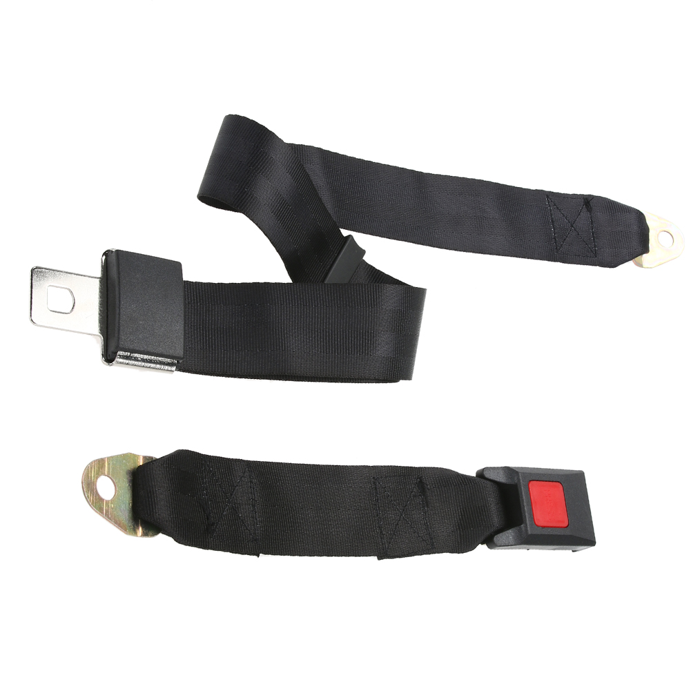 Universal Car Safe Fit Adjustable Seat Belt Car Truck Two Point Seat Belt Lap Safety Belts Durable Buckle Car Vehicle Seat Belts
