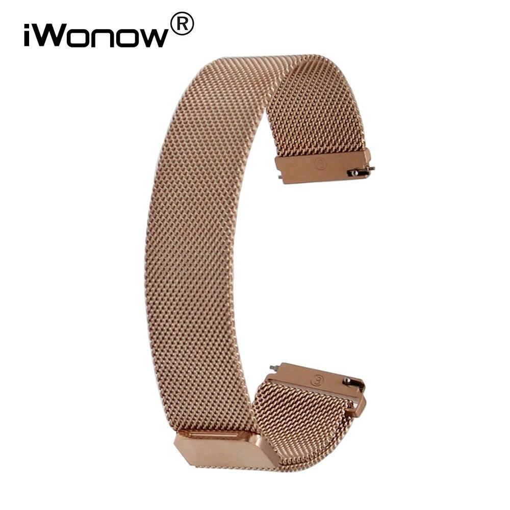 18mm 20mm Milanese Stainless Steel Watchband for DW Daniel Wellington Men Women Watch Band Magnetic Buckle Strap Wrist Bracelet