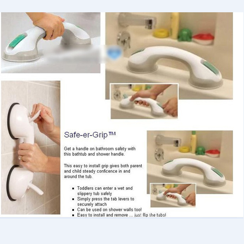 Bathroom Shower Safety Toilet Grab Bathroom Tub Super Grip Suction Handle  Anti Slip Support Handrail Bathroom Accessories In Sanitary Ware Suite From  Home ...