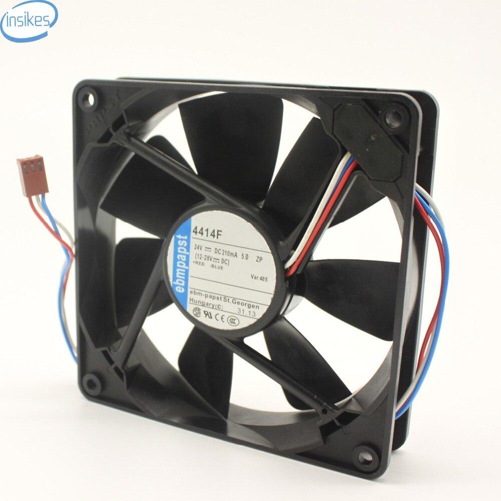 Original DC Fan 4414F DC 24V 0.21A 5W Server Fan Cooling Blower Fan 2900RPM 43DBA 3Wires Inverter Fan 120*120*25mm royal fan ut626dg tp 16cm220v 5w inverter cooling fan