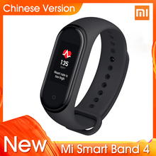 "2019 Original Xiaomi Mi Band 4 Newest Music Smart Bracelet Heart Rate Fitness Tracker 0.95"" Color AMOLED Screen BT 5.0 Wristband"