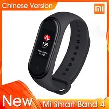 "2019 Originele Xiao Mi Mi Band 4 Nieuwste Muziek Smart Armband Hartslag Fitness Tracker 0.95 ""Kleur Amoled Screen bt 5.0 Polsbandje"
