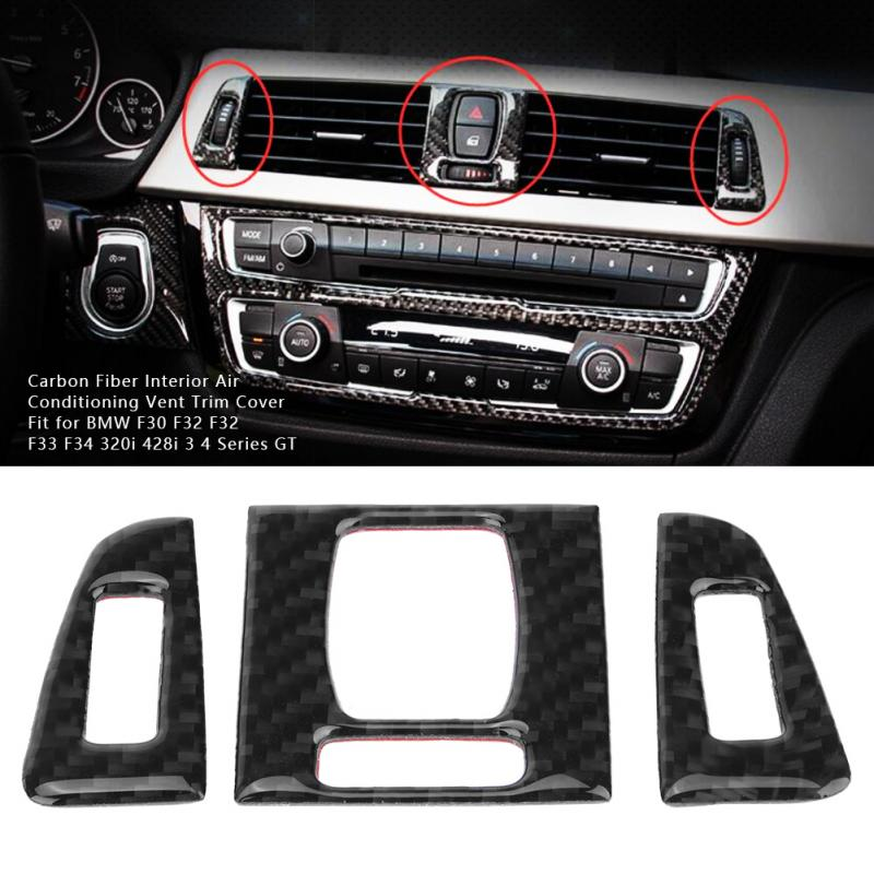 Inner Upper Air Vent Outlet Cover Trim 2pcs for Mercedes Benz C Class W205 14-19