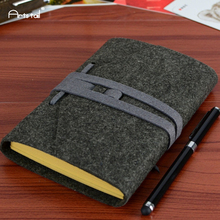 Arts Tail Wool Felt Cover Creative Retro Bands Vintage School Office Loose Sheet Note Book Kraft Paper Travel Daily Notebooks