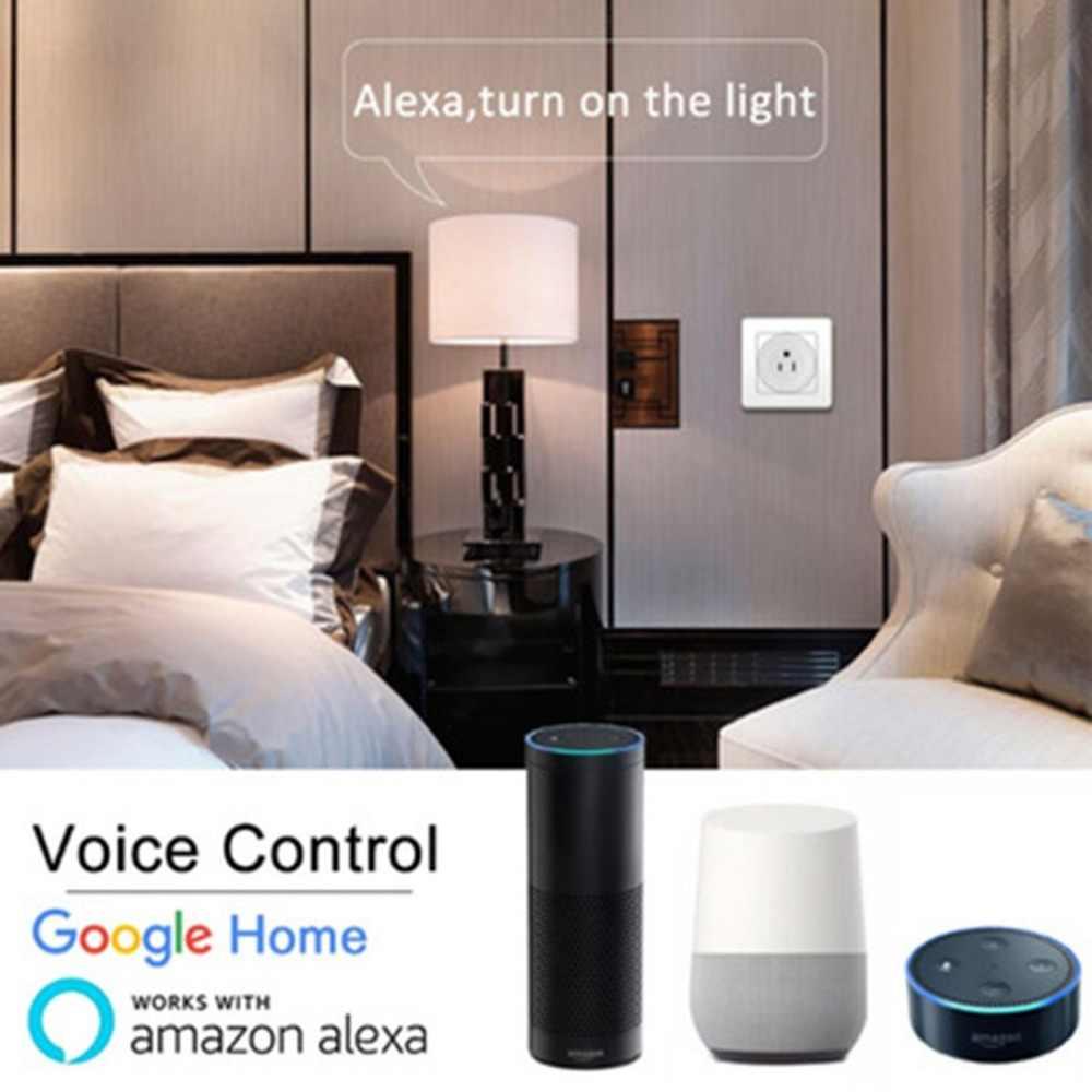 Inteligentne gniazdo WiFi zdalnego sterowania domu ABS gniazdo na telefon bezprzewodowy pilot zdalnego adapter domowy inteligentna wtyczka zasilania
