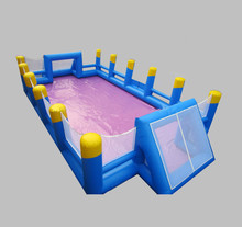 Giant Inflatable Water Soccer Field for Sale,use Beach games