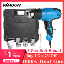 2000W Heat Gun Soldering Hair dryer Hot Air Gun Temperature-controlled Building Hair dryer Heat guns with 4 Nozzles power tools(China)