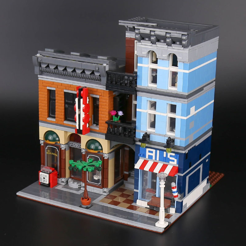 In Stock Street View Creator Series 15011 Detective office 2262Pcs Building Blocks Compatible With 10246 Kids