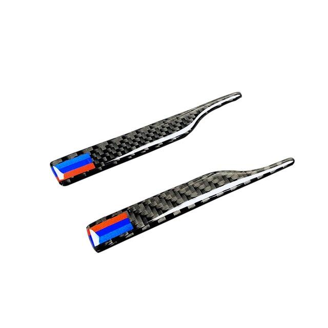 Para bmw 1 2 3 4 5 7 series x3 x4 x5 x6 fibra de carbono espelho retrovisor anti colisão pára tira decoração capa guarnição