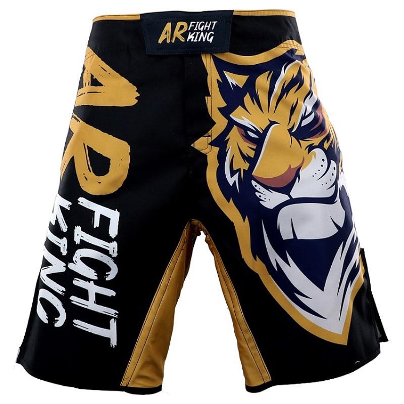 Men Summer New MMA Fighting Sports Elasticity Shorts Men UFC MMA Training Fitness Jitsu Shorts Muay Thai Breathable Shorts