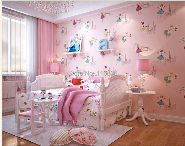 Child Real Princess Wallpaper Bedroom Wall Pink Romantic Eco Friendly Background