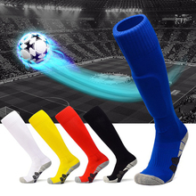 Children Football Socks Boys Soccer Sock Kids Above Knee Plain Long Stockings Men Over High Match Adult