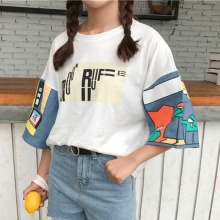 Casual Harajuku T Shirt Summer Women Shirts Fashion Print Female T-shirt Top