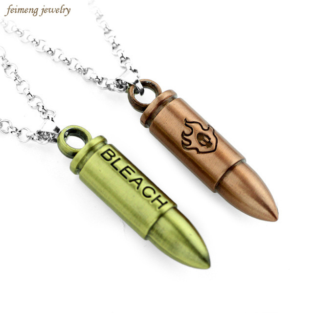 Anime Bleach Necklace 2 Colors Bullet Necklace For Women Mens Statement Necklace  Pendants Jewelry