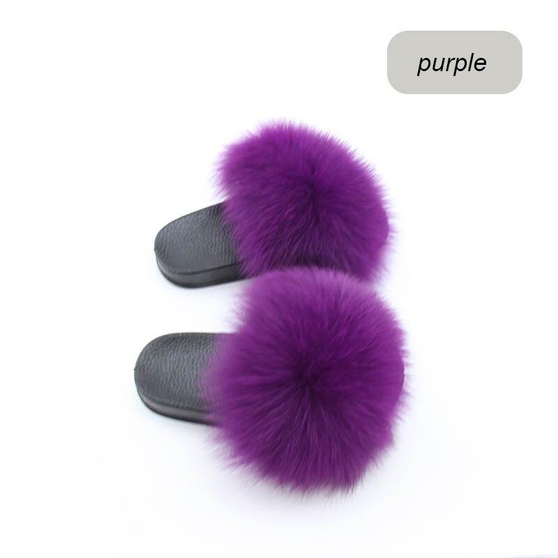 children slippers fox fur (20)