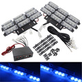03024 New Arrival Universal Car Emergency Flash Light 54 LED Grille Deck Lightbar Strobe Flashing Light 12V Free Shipping