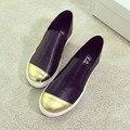Бездельники Круглая голова обувь женщина плоским лифт обувь круглым носком женская обувь удобная все матч нижняя эластичный досуг обувь