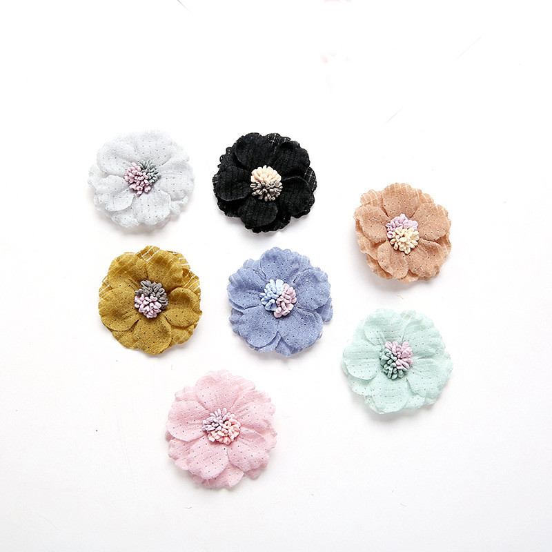Back To Search Resultsjewelry & Accessories 20 Pcs Satin Cloth Gauze Flowers Connectors Diy Handmade Headwear Accessories For Jewelry Making