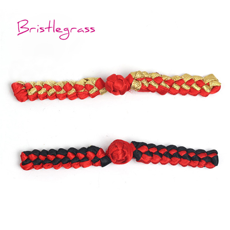 Home & Garden Apparel Sewing & Fabric Cheap Price Bristlegrass 5 Pair Handmade Red Leaf Chinese Knot Buttons Frog Closure Ribbon Fasteners Cheongsam Costume Suit Diy Sewing Craft