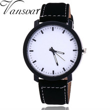 Vansvar Brand Fashion Unisex Lover Wristwatch Casual Leather Women Watch Men Quartz Watch Relogio Feminino  Drop Shipping V80