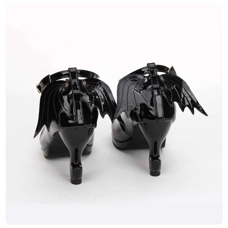 Gothique blanc Hauts Talons black Japonais Cheville Fantaisie T Bout Brides À Rond Black custom Cosplay noir Chaussures Pl Filles chaussures Blanc Lolita Aile Confortable Avec Pu dxfvvzqwB4