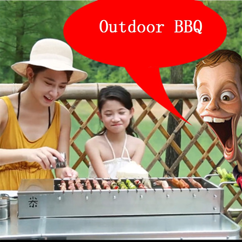 Stainless Steel Foldable BBQ Grill USB Electric Charcoal Grill Automatic Flip Barbecue Stove for Outdoor Picnic Home Garden Part-in BBQ Grills from Home & Garden    2