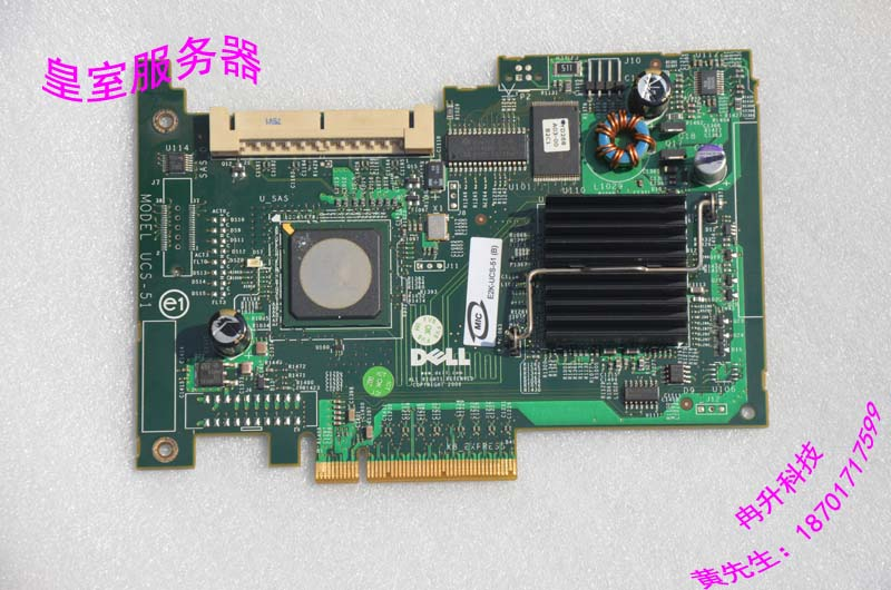 UCS-51 SAS 5/IR SAS array card card FOR DELL  Server UN939 support RAID0/1 ucs майки