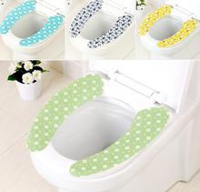 2pair/SET Adhensive waterproof Washroom Warm Washable Health Sticky Toilet Mat cute COMFORTABLE Seat Cover Pad