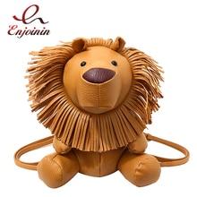 חמוד האריה סטיילינג עור מפוצל אופנה גבירותיי מקרית כתף תיק תרמיל ילדה רוכסן בית ספר תיק מסנוור קטן תרמיל תיק