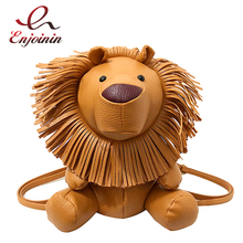 Śliczne Lion stylizacja Pu skóra moda damska codzienna torba na ramię plecak dziewczyna zamek tornister olśniewający mały plecak torba