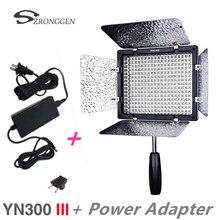 New Yongnuo YN300 III YN 300 lIl 3200k 5500K CRI95 Camera Photo LED Video Light with AC Power Adapter