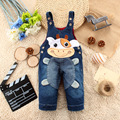2016 Children Overalls Character Casual Denim Cute Cow Kids Clothing Cartoon Cotton   Pants Trousers For Boys and Girls