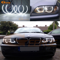 For BMW E46 318i 323i 325i 328i 330i 325xi 330xi Halogen headlight Excellent Ultra bright illumination smd led Angel Eyes kit