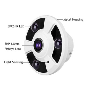 Image 3 - HD 1080P IP Camera POE 2MP Onvif Fisheye Panorama 5MP Lens IR Night Vision HD Security CCTV Camera 2MP 360 Degree View P2P NVSIP