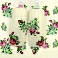 5 Unids/lote belleza nail stickers calcomanías decoración del arte del clavo de transferencia de agua suministros herramienta verde rosa flor diseño BLE1729