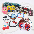Cute Cartoon Keychains Hello Kitty Mickey Cheese cat Bear Key chains Bag Pendant car KeyRing Owl Minion key holder cover Anime