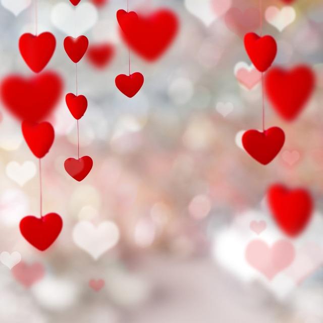 free shipping fantasy heart valentine backdrops photography studio