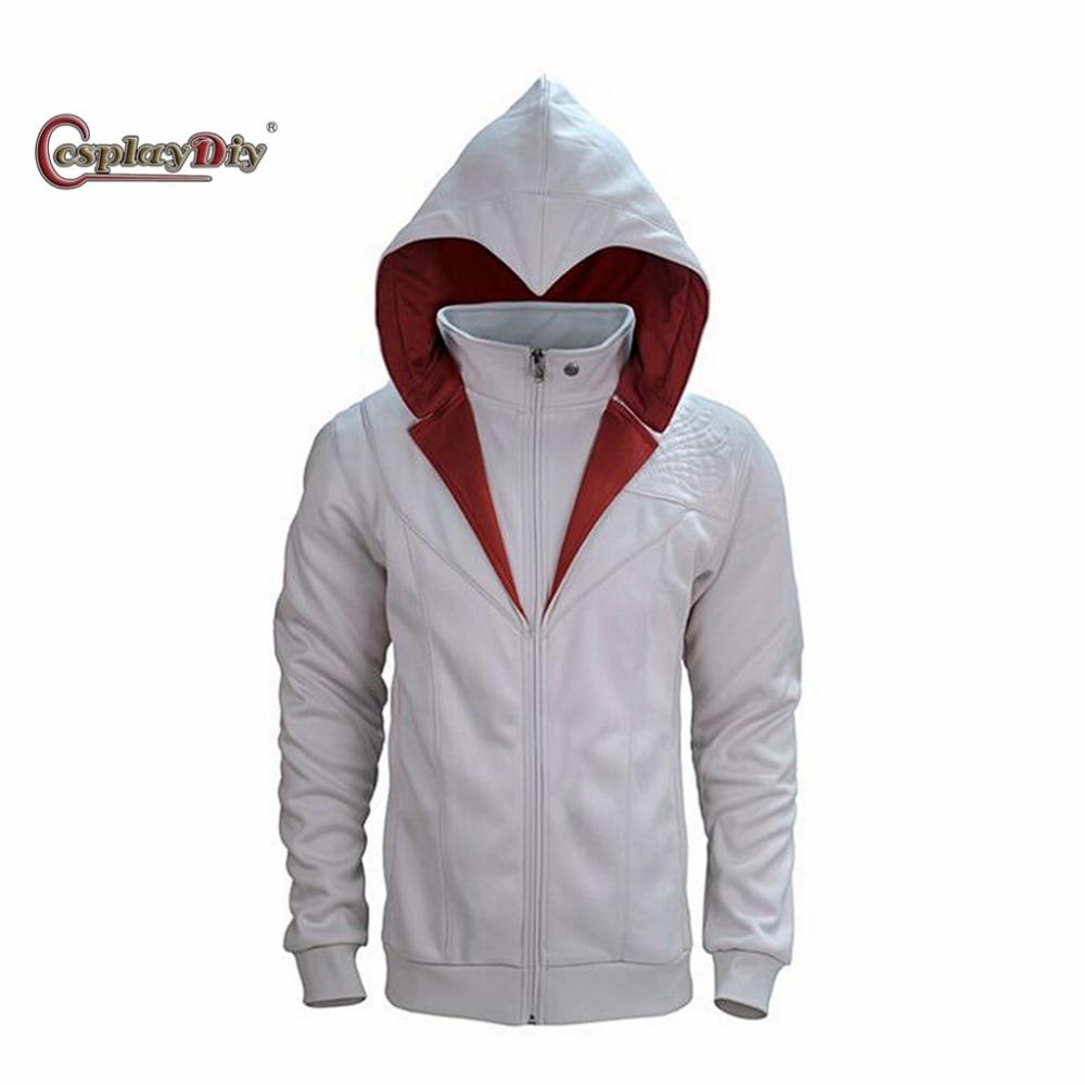 Cosplaydiy Game Brotherhood Ezio Auditore Costume Fashion Hoddies Jacket Adult Men Coat J5