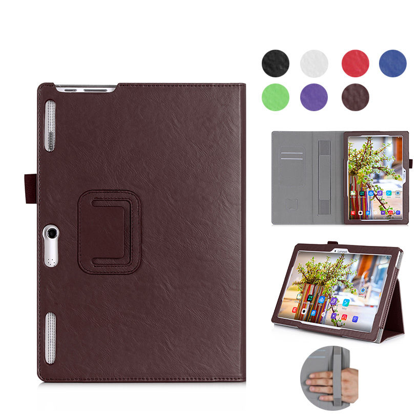 Leather Flip Case For Lenovo Tab 2 A10-30F A10-70 A10-30 X30 x30f 70F 10.1 inch Cover Tablet Protective WIth hand Holder Shell new slim folio bracket for lenovo a7 20f standing tablet cover for lenovo tab 2 a7 20 flip protective tablet case