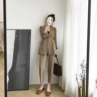 Plaid Women Suit Ladies Suit Women Suits Office Sets Casual Blazer And Pants Set Formal Two Piece Set Terno Feminino
