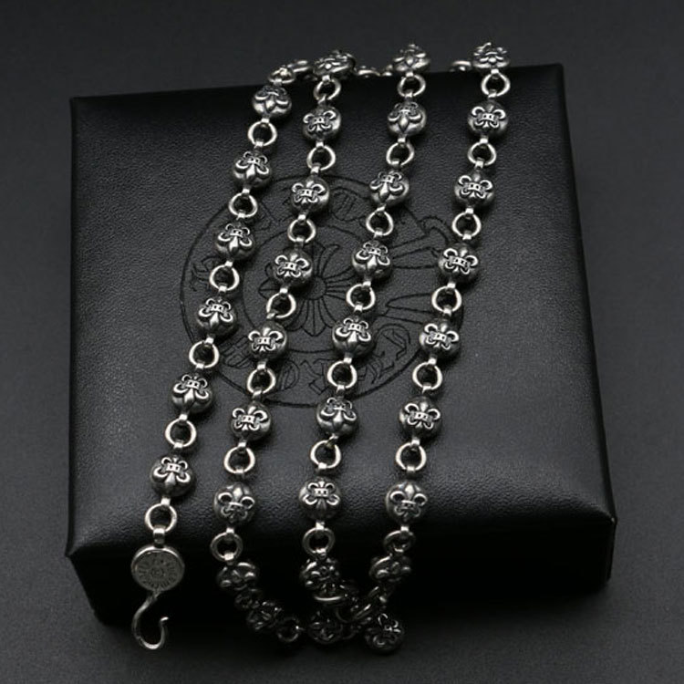 Fashion Jewelry Retro Thai Silver S925 Sterling Silver Chain Men And Women Long Sweater Necklace s925 sterling silver silver bracelet retro fashion jewelry made of old men and women