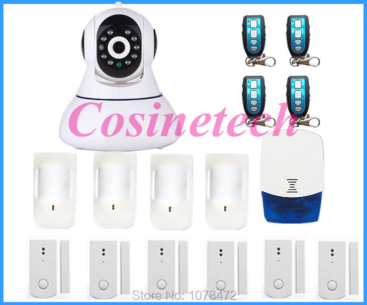 Brand new HD 720P Wireless WIFI IP Camera Onvif Video Surveillance Security system, GSM camera alarm system for home safety
