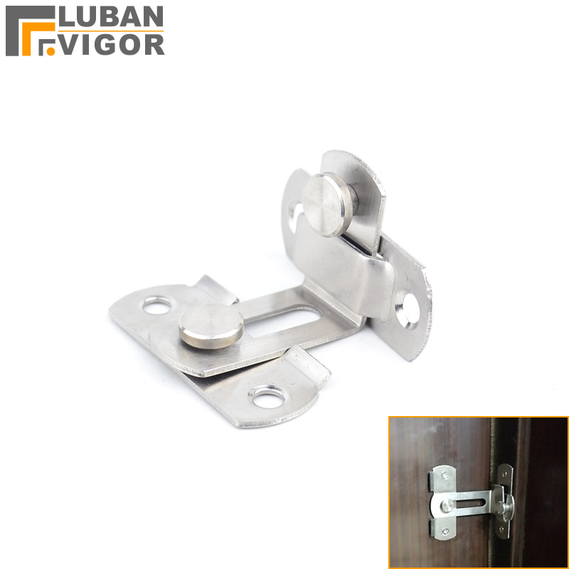 все цены на Stainless steel sliding door hook lock,90 angle Hasp,For easy to install,Surface mounting,Anti-theft, Safety,Door Hardware онлайн