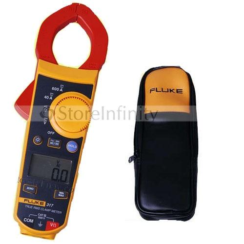 Fluke 317 Digital Clamp Meter AC/DC Multimeter Tester fluke f302 1 6 lcd ac clamp meter yellow red 3 x aaa