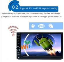HD 1024X600 Quad Core 5.1.1 duplo 2 din Android Carro DVD Jogador de rádio sistema de Navegação GPS Stereo DDR3 de 1 GB ROM 16G Flash 2din